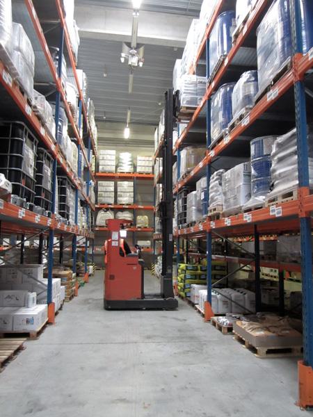 Sté Odalis-Entrepôt de stockage avec élévateur
