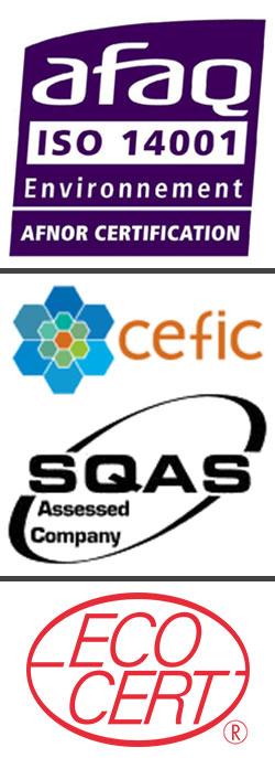Sté ODALIS - Logs ISO 14001 - SQAS CEFIC - EXOCERT
